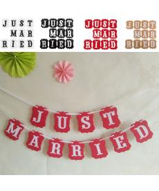 Dekorační girlanda - just married