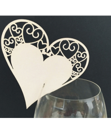 Sada dekoračních srdcí na sklenici