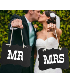 Svatební dekorační tabulky Mr.&Mrs.