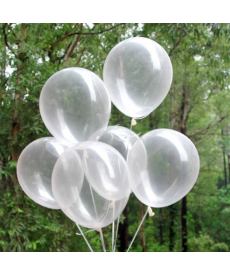 Sada čirých nafukovacích balónků