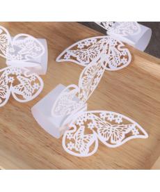 Sada papírových kroužků na dekoraci ubrousků - motýli
