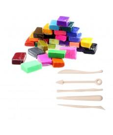 Sada polymerové fimo hmoty, 32 kusů + nástroje