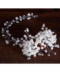 Perlová dekorace do svatebního účesu