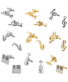 Manžetové knoflíčky s hudebními motivy