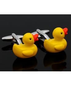 Manžetové knoflíčky - žluté kačenky