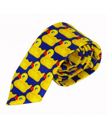 5da42a57534 Pánská stylová kravata s kačenkami