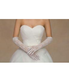 Dlouhé svatební krajkové rukavičky