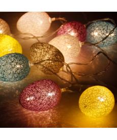 Světelný LED velikonoční dekorační řetěz