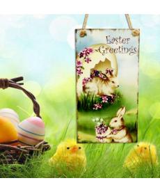 Závěsná dekorační velikonoční destička