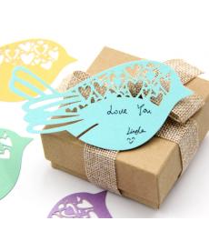 Sada dekoračních kartiček - ptáčků