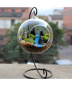 Závěsná dekorační skleněná váza