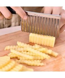 Vlnitý nůž z nerezové oceli na domácí hranolky sýry či zeleninu