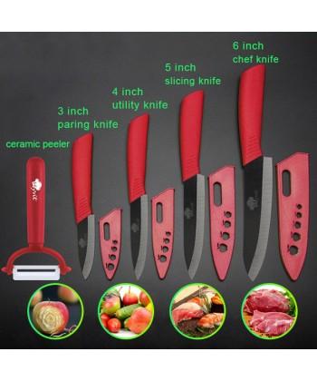 Sada vysoce kvalitních keramických nožů a škrabky