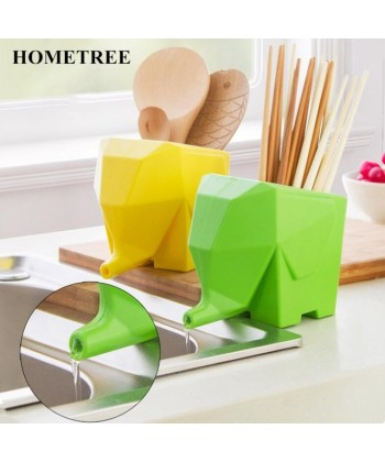 Odkapávač na příbory či zubní kartáčky  s odtokem vody do dřezu SLON