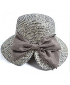 Skládací klobouk s mašlí