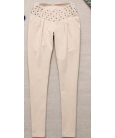 Slabší zdobené elegantní dámské kalhoty
