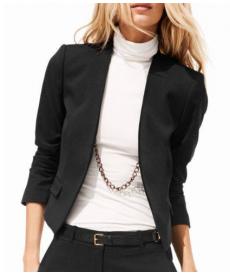 Elegantní jednobarevné dámské sako