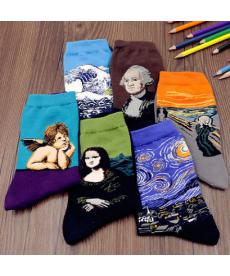 Barevné obrázkové unisex ponožky