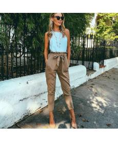 Harémové dámské kalhoty s vysokým pasem