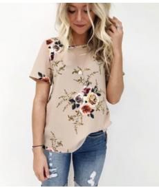 Dámské květinové tričko s krátkým rukávem