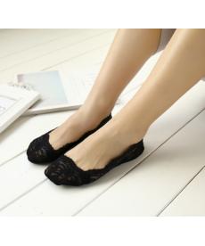 Dámské krajkované ponožky do balerínek