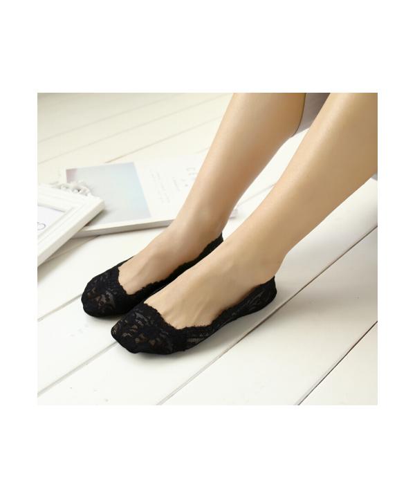 Dámské krajkované ponožky do balerínek 510e608a69