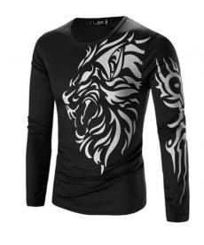 Pánské triko s dlouhým rukávem - motiv lva