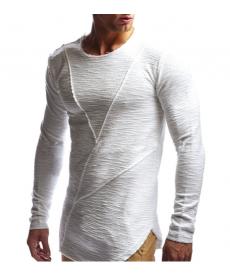 Dlouhé prošívané pánské triko s rukávem