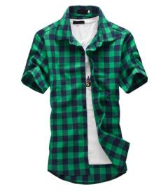 Kostkovaná pánská košile