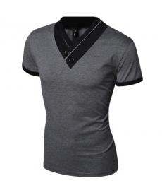 Pánské elegantní tričko s V výstřihem