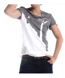 Stylové pánské tričko v designu přelívající se barvy