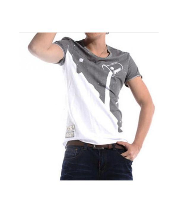 Stylové pánské tričko v designu přelívající se barvy ... 88dc4716d4