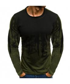 Pánské triko s dlouhým rukávem ve dvoubarevném designu