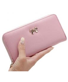 Dámská peněženka zdobená mašličkou