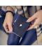 Dámská mini peněženka se zlatými doplňky