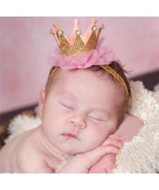 Princeznovská korunka na čelence pro malé miminko