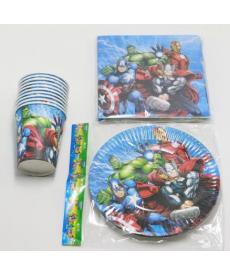 Sada 40 ks narozeninového papírového nádobí pro kluky