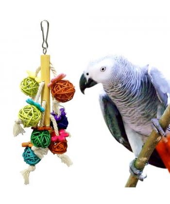 Závěsná hračka do ptačí klece