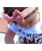 Dětská čelenka s třpytivou mašlí
