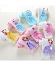 Dívčí legíny s 3D motivem princezny