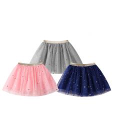 Dívčí tylová sukně s třpytivými hvězdičkami