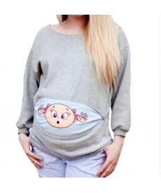 Těhotenská mikina s obrázkem miminka