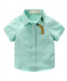 Klučičí pastelová košile se žirafou
