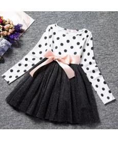 Slavnostní dívčí šaty s puntíky a tutu sukýnkou