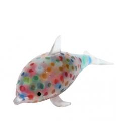Antistresový delfín s barevnými kuličkami