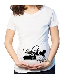 Těhotenské tričko s motivem