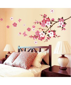 Květinová samolepka na zeď