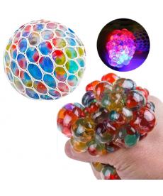 Barevný antistresový balónek s LED podsvícením