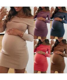 Těhotenské úpletové šaty