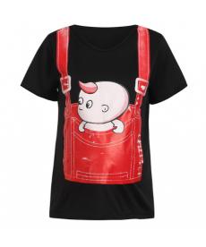 Vtipné těhotenské tričko s obrázkem miminka v kapse